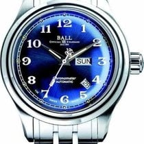Ball Steel Automatic Blue Arabic numerals 41mm new Trainmaster Cleveland Express