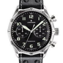 Junghans Meister Pilot Steel 43.3mm Black United States of America, New Jersey, River Edge