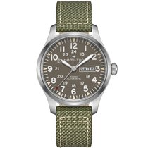 Hamilton Khaki Field Day Date Steel 30mm Grey United States of America, New Jersey, River Edge