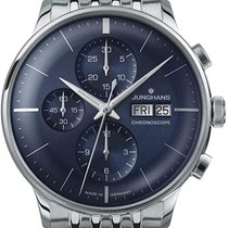 Junghans Meister Chronoscope Steel 40.7mm Blue No numerals United States of America, New Jersey, River Edge