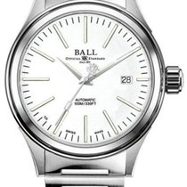 Ball Fireman Steel 40mm White No numerals United States of America, New Jersey, River Edge
