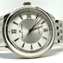 Maurice Lacroix Les Classiques Date Stahl 38mmmm Silber Schweiz, Arbon