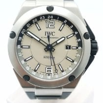 IWC Ingenieur Dual Time usados 45mm Gris Fecha GMT Caucho