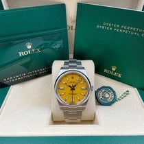 Rolex Steel Automatic Yellow No numerals 41mm new Oyster Perpetual