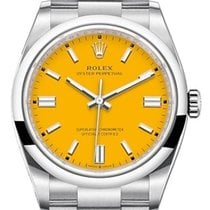 Rolex Steel Automatic Yellow No numerals 36mm new Oyster Perpetual 36