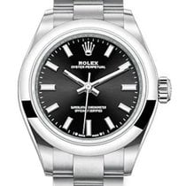 Rolex Oyster Perpetual Steel 28mm Black No numerals United States of America, New York, New York
