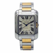 Cartier W5310007 Gold/Steel Tank Anglaise 39.2mm pre-owned