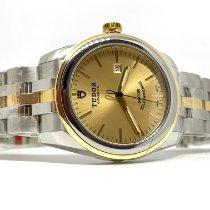Tudor Glamour Date Gold/Stahl 31 mmmm Champagnerfarben