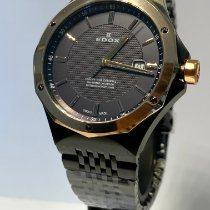 Edox Gold/Steel 43 mmmm Quartz 53005 37GRM GIR new
