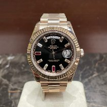 Rolex Day-Date II Oro rosa 41mm Negro Sin cifras