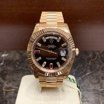 Rolex Oro rosa Automático Negro Sin cifras 41mm nuevo Day-Date II