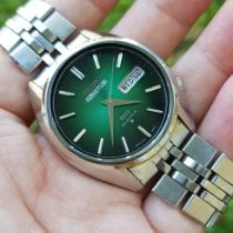 Seiko 5 Steel 37mm Green No numerals Indonesia, INDONESIA