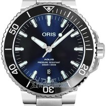 Oris Aquis Date Steel 43.5mm Blue United States of America, New York, Airmont