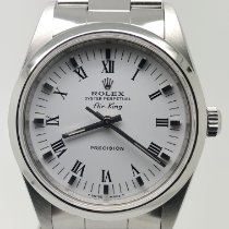 Rolex Air King Precision Acero 34mm Blanco