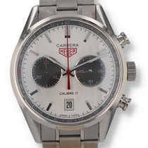 Heuer Steel Chronograph Silver pre-owned