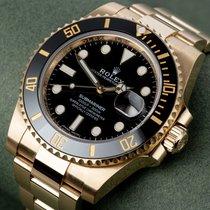 Rolex Submariner Date Желтое золото 40mm Черный Без цифр