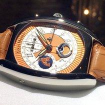 Louis Moinet nové Automatika Prosklené víčko Gilošovaný číselník Luminscenční hodinová a minutová ručka 40mm Ocel Safírové sklo
