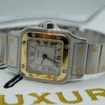 Cartier Santos Galbée Золото/Cталь 24mm Cеребро Римские
