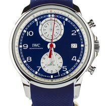 IWC Portuguese Yacht Club Chronograph Steel 43mm Blue United States of America, Illinois, BUFFALO GROVE