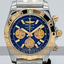 Breitling Chronomat 44 Or/Acier 44mm Bleu Sans chiffres