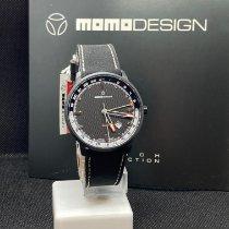 Momo Design Stahl 42,5mm Quarz MD6005BK-12 neu
