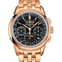 Patek Philippe Perpetual Calendar Chronograph Rose gold 41mm Black