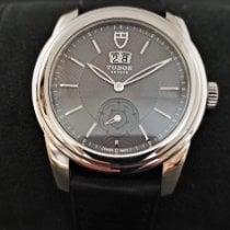 Tudor Glamour Double Date Acier 42mm Noir Sans chiffres
