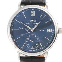 IWC Portofino Hand-Wound Steel 45mm Blue