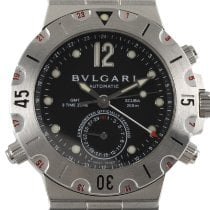 Bulgari Diagono Steel 38mm Black