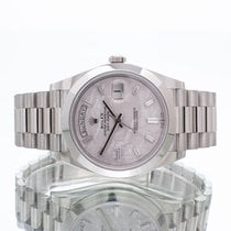 Rolex Day-Date 40 occasion 40mm Argent Date Platine
