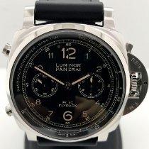 Panerai Luminor 1950 3 Days Chrono Flyback Steel 44mm Black Arabic numerals