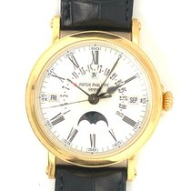 Patek Philippe Perpetual Calendar Yellow gold 38mm Silver