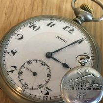 Zenith Pocketwatch Staal 1910 48mm tweedehands