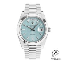 Rolex Day-Date 40 Platinum 40mm Blue No numerals United States of America, New York, New York