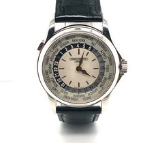 Patek Philippe World Time Oro blanco 37mm Plata