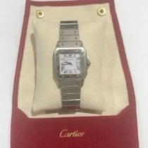 Cartier Stahl Automatik Weiß Römisch 32mm gebraucht Santos Galbée