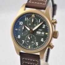 IWC Pilot Spitfire Chronograph Bronze 41mm Green Arabic numerals United States of America, Ohio, Mason