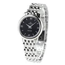 Omega De Ville Prestige nuevo Cuarzo Reloj con estuche y documentos originales 424.10.24.60.01.001