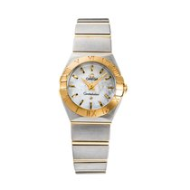 Omega Constellation Quartz pre-owned 24mm Mother of pearl Gold/Steel