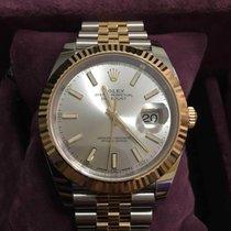 Rolex Datejust Gold/Steel 41mm Silver No numerals