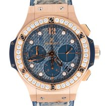 Hublot Big Bang Jeans Oro rosa 41mm Azul