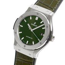 Hublot Classic Fusion 45, 42, 38, 33 mm Титан 45mm Зеленый Без цифр