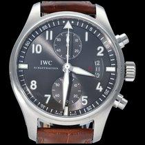 IWC Pilot Spitfire Chronograph Stal 43mm Szary Arabskie
