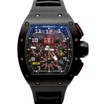 Richard Mille RM 011 pre-owned 50mm Black Chronograph Flyback Date Rubber