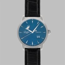 Glashütte Original Senator Excellence Steel 42mm Blue Roman numerals