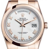 Rolex Day-Date 36 Aur roz 36mm Alb