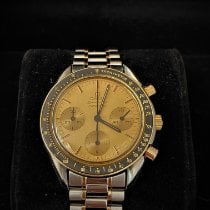 Omega Speedmaster Reduced pre-owned 39mm Champagne Chronograph Steel