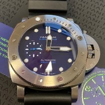 Panerai Luminor Submersible 1950 3 Days Automatic Titane 47mm Bleu Sans chiffres