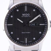 Mido Multifort Stal 42mm Szary Bez cyfr