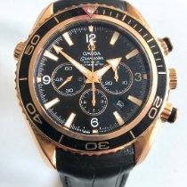 Omega Seamaster Planet Ocean Chronograph Oro rosa 45,5mm Negro